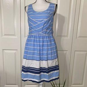 Max studio striped cotton dress